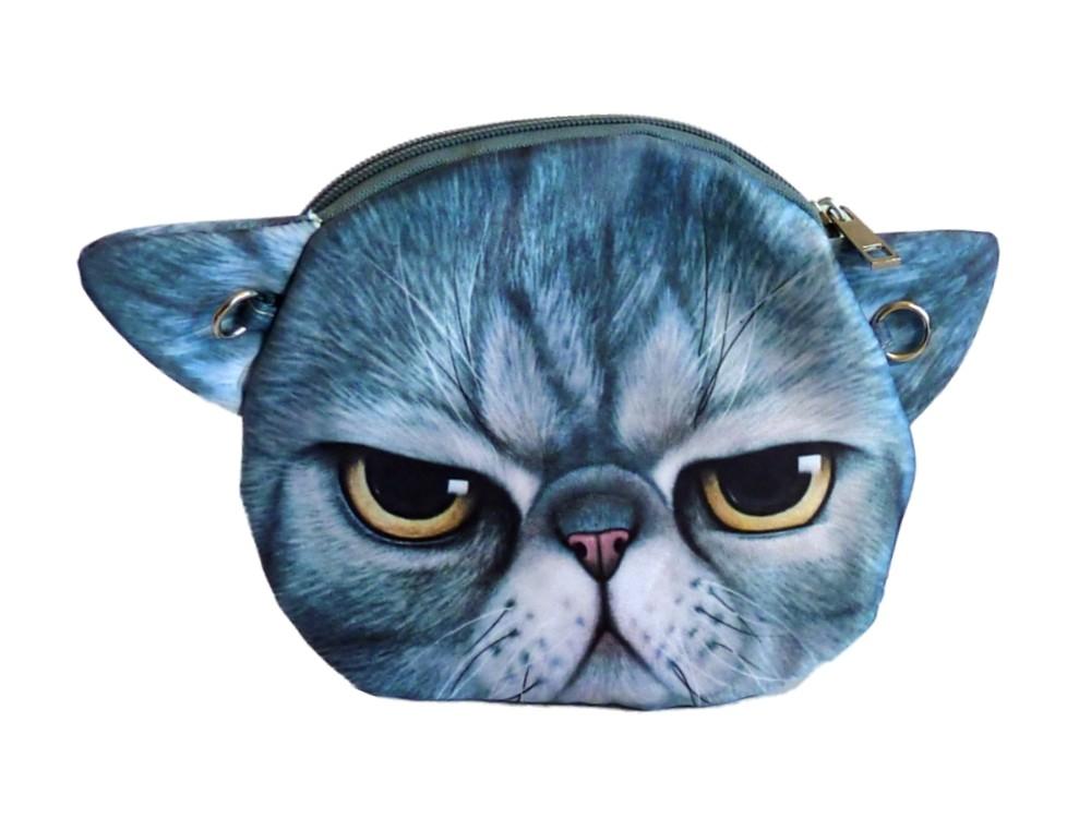 Tasche Kätzchen BAD CAT blau Comic