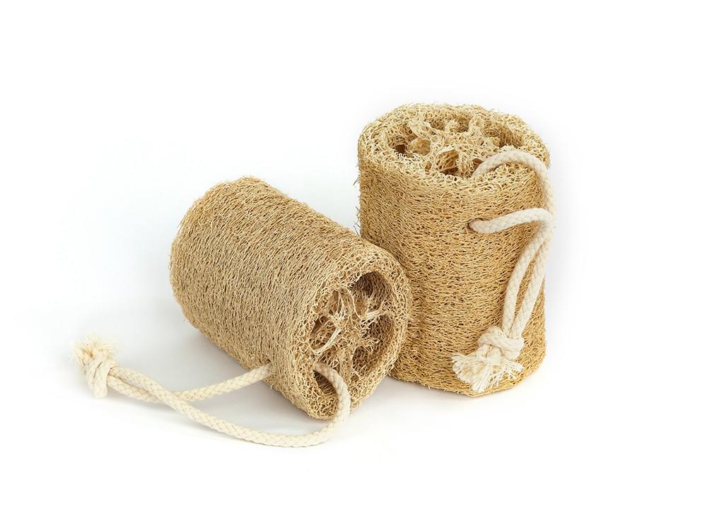 LUFFA Loffah Massage Peeling - Natur Schwamm mit Kordel