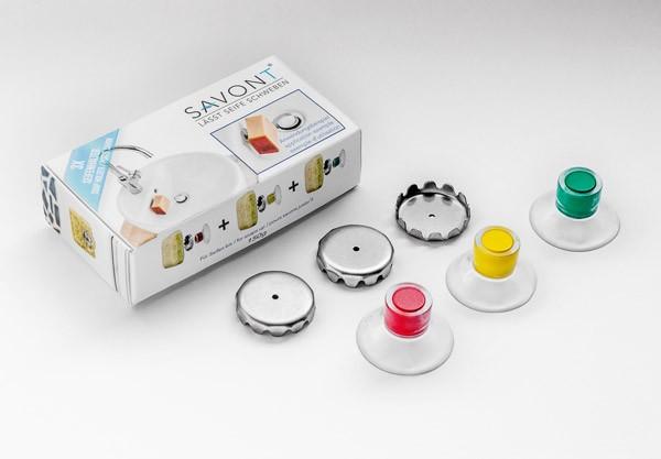 SAVONT Classic Seifenhalter in der 3er Verpackung