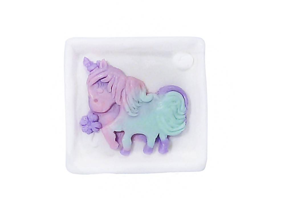 Einhorn Relief Seife Unicorn eckig
