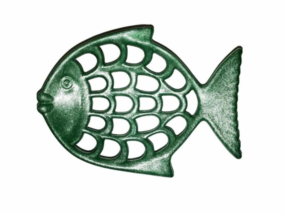 Seifenablage Fisch Flüssigholz Seifenschale grün