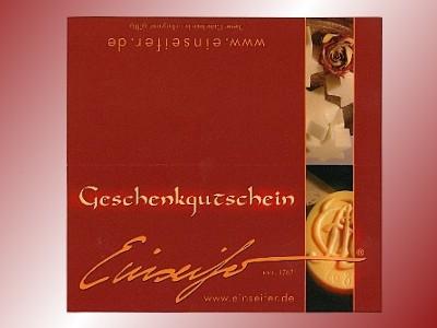 GESCHENK - GUTSCHEIN 25 €