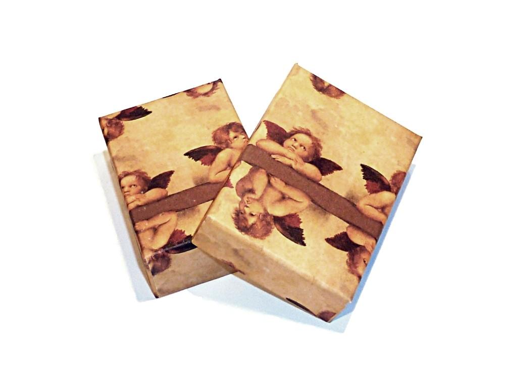 kleine Geschenkschachtel aus Karton ENGEL