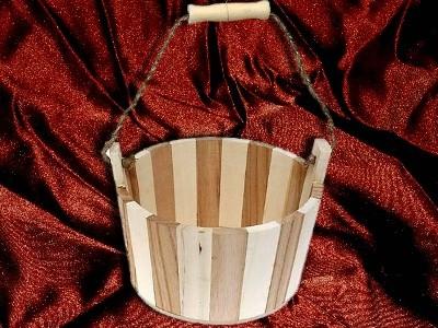 Seifenablage Holzzuber 616 RUND groß