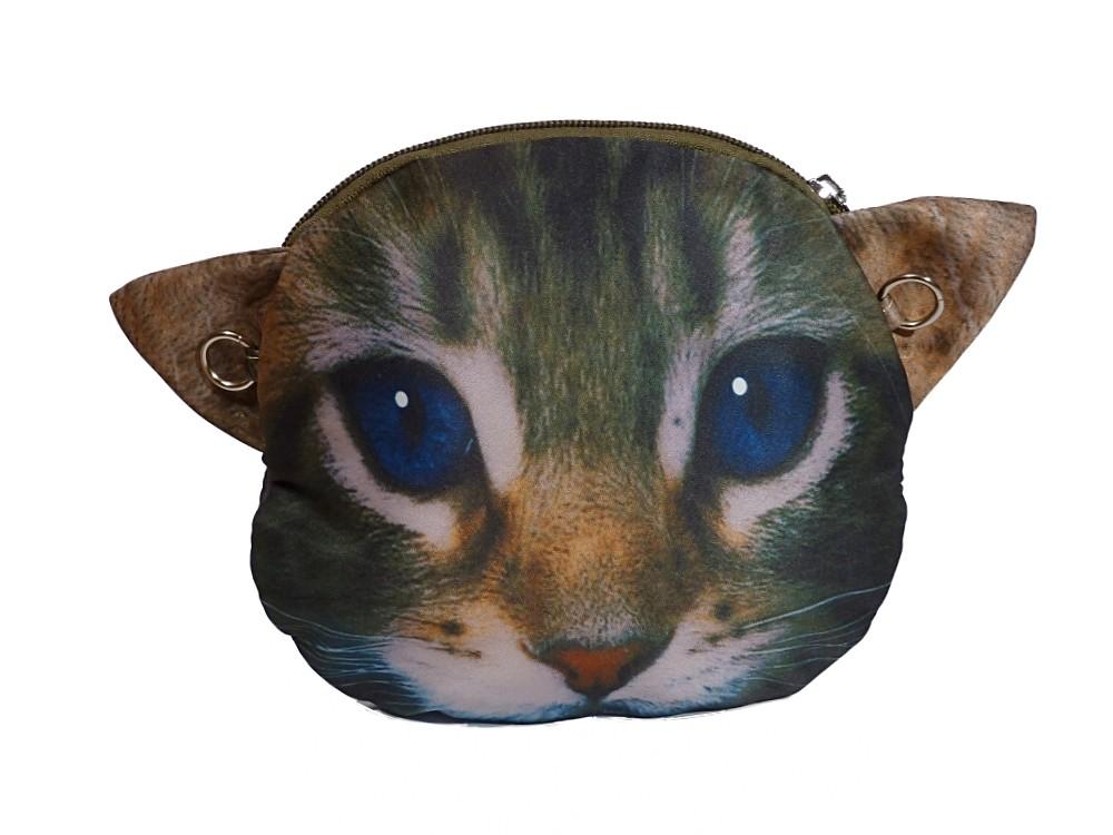 NEU Tasche Kätzchen Katze CAT Comic grau-gruen Kindertasche