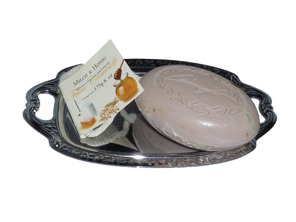 Kordelseife mit Sheabutter Milch und Honig