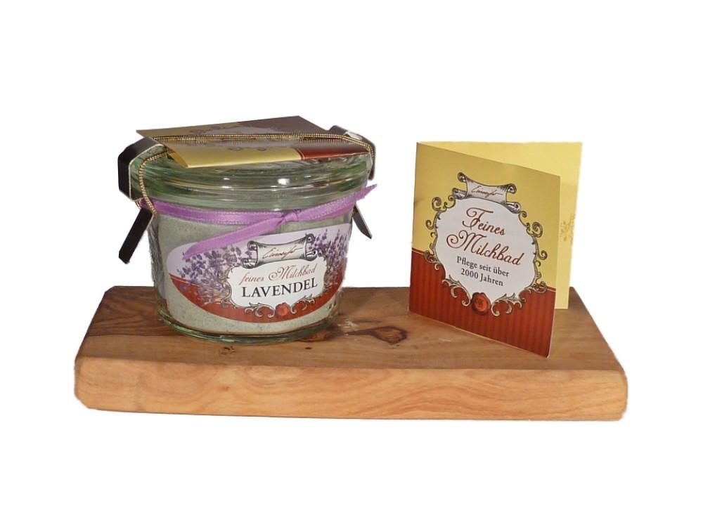 Feines Milchbad Lavendel im Weckglas