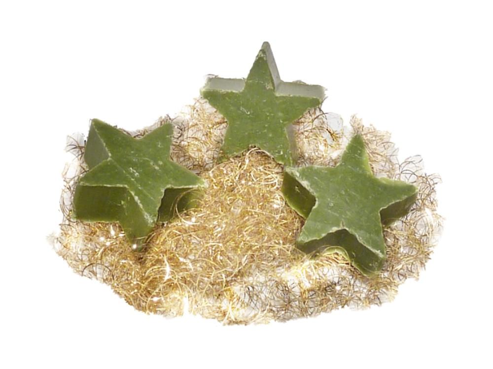 3x Weihnachtsseife Mini - Stern Eisenkraut