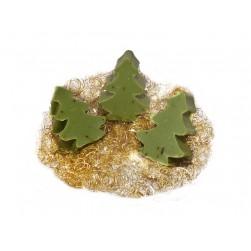 3x Weihnachtsseife Mini - Baum Eisenkraut