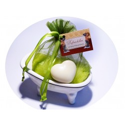 Geschenkset 3tlg Badewanne Seifenschale mit Inhalt
