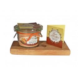 Feines Milchbad Pfirsich im Weckglas