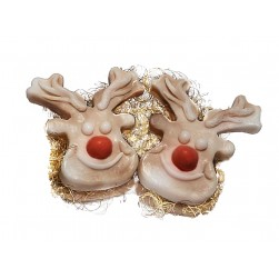 2x Unser Rudolph mit Der Roten Nase Weihnachtsseife