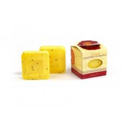 Geschenkpackung 2 Stück Gästeseife Lanolin Grapefruit/Orange