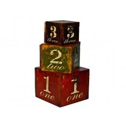 Geschenke Box 3in1 Würfel Dekoboxen im Vintagestil
