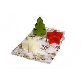 3 x Weihnachtsseife im Saeckchen