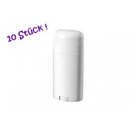 10x Deo-Stick-Hülsen (leer) für ca. 75g Füllmasse