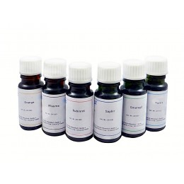 6 Flüssigfarben SMARAGD/ORANGE/SAPHIR/PFLAUME/RUBINROT/TÜRKIS