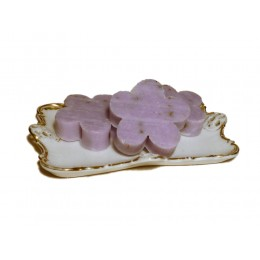 Lanolinseife Blümchen Lavendel