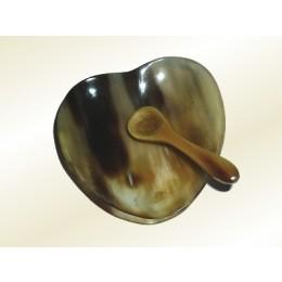kleine Horn Schale & Löffel Herzform