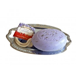 Kordelseife mit Sheabutter Lavendel 175g