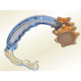 Massageroller Holz - Acryl blau