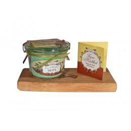 Feines Milchbad Olive im Weckglas