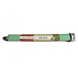 Feines Milchbad Olive im Röhrchen