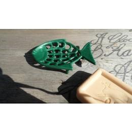 Seifenablage Flüssigholz Fisch grün
