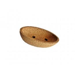 NEU Seifenschale aus Kork oval klein