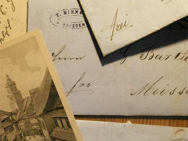alte Briefe über den berühmten Wiener Duft